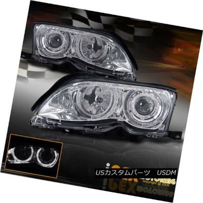 ヘッドライト (3-Series) 2002 2003 2004 2005 BMW E46 4DR Halo Rim Projector Headlight Chrome (3シリーズ)2002...