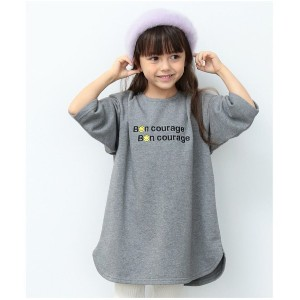 【SALE 30%OFF】ROPE' PICNIC KIDS 【ROPE' PICNIC KIDS】【SMILEYFACE】裏毛ワンピース(グレー(07))【返品不可商品】