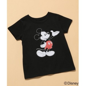 ROPE' PICNIC KIDS 【ROPE' PICNIC KIDS】【DISNEY(ディズニー)】MICKEY Tシャツ(ブラック(01))