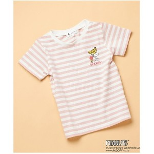【SALE 60%OFF】ROPE' PICNIC KIDS 【ROPE' PICNIC KIDS×PEANUTS(SNOOPY)】ボーダーTシャツ(ピンク(63))【返品不可商品】