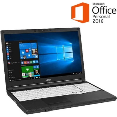 【セキュリティセット・MS Office搭載】富士通 LIFEBOOK A576/SX FMVA2404KP Windows10 Pro 64bit Core i3 8GB 500GB...