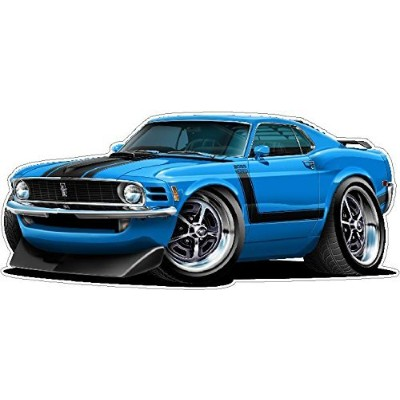 1970 Ford Mustang Boss 302 22 x48 (4ft Long) Wall Graphic Decal Sticker Man Cave Garage Decor Boys...