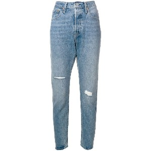 Levi's: Made & Crafted distressed cropped jeans - ブルー