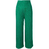 Kenzo cropped pleat trousers - グリーン