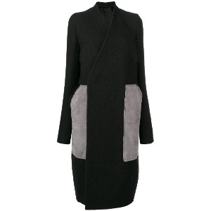 Rick Owens boxy double-breasted coat - ブラック