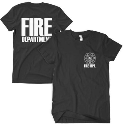 Fox Outdoor 64-615 M Fire DPT Two-Sided Imprinted T-Shirt, Black - Medium