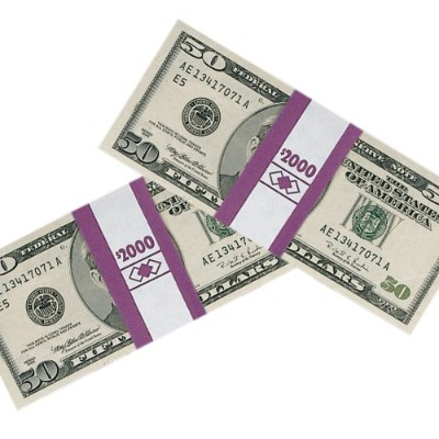 Color-Coded Kraft Currency Straps, $20 Bill, $2000, Self-Adhesive, 1000/Pack (並行輸入品)