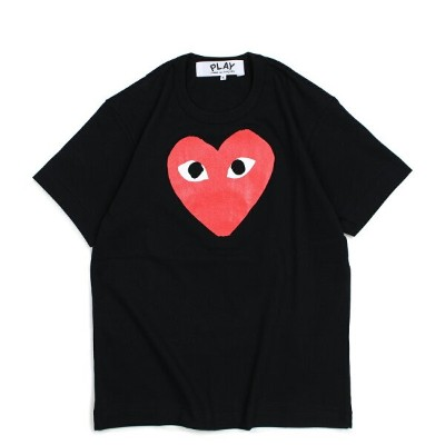 PLAY COMME des GARCONS RED HEART T-SHIRT コムデギャルソン Tシャツ 半袖 メンズ ブラック AZT112 [1810]