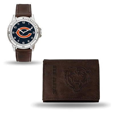 NFL Chicago BearsレザーWatch /財布セットby Rico Industries