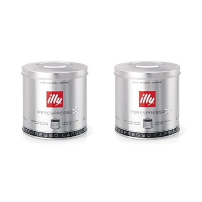 illy iperEspresso Capsules Dark Roasted Coffee, 5-Ounce, 21-Count Capsules (Pack of 2) by illy