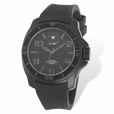 PerfectジュエリーギフトUS Army Wrist Armor c25 WatchステルスDial & Blk Rubber Strap