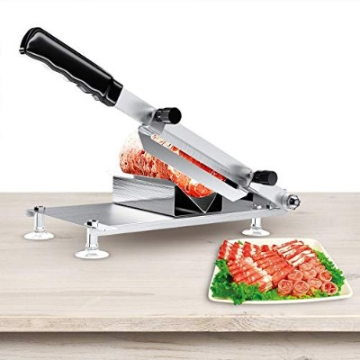 Meat Slicer,Manual Control Stainless Steel Frozen Meat Slicer Cutting Beef Vegetable Mutton Sheet...