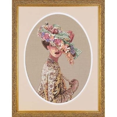 """Gold Collection Victorian Elegance Counted Cross Stitch Kit-11""""X15"""" 28 Count (並行輸入品)"""