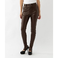【SALE(伊勢丹)】 AKIRA NAKA/アキラ ナカ  18FW Synthetic leather stirrup leggings(AW1827BR) BROWN 【三越・伊勢丹/公式】...