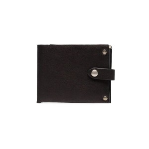Ann Demeulemeester black flap stud embellished leather wallet - ブラック