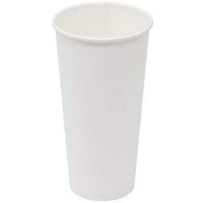 Simply Deliver 22 oz Paper Cold Cup,Single-Wall,Double-Sided Poly-Coated,White,1000-Count [並行輸入品]