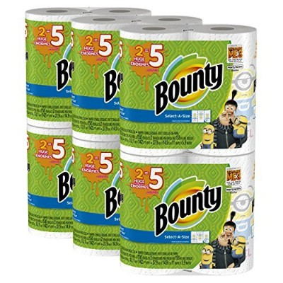 Bounty Despicable Me 3 Select-A-Size Paper Towels with Minion Prints,Huge Roll,12 Count [並行輸入品]