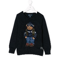 Ralph Lauren Kids bear intarsia jumper - ブルー
