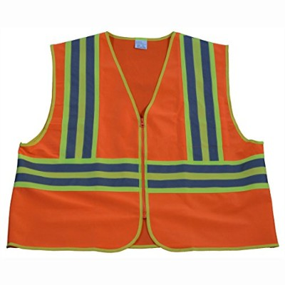 Petra Roc OV2-CB2-S-M Safety Vest Ansi Class Ii Orange Solid Contrast Binding 244; Small & Medium