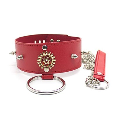 HIPLAYGIRL Sunflower Red Rhinestone Choker - Wide Collar Charm Collar Necklace Jewelry Neck Ring...