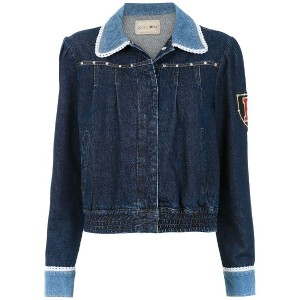 Andrea Bogosian embroidered denim jacket - ブルー