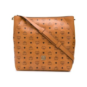 MCM all-over logo tote bag - ブラウン