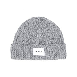 Dondup logo patch beanie - グレー