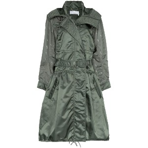 Chloé hooded parka coat - グリーン
