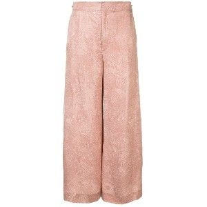 Roland Mouret high waisted wide leg trousers - ピンク