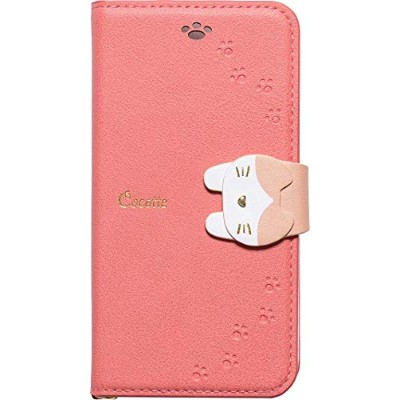 iPhone8/7/6s/6 兼用 手帳型ケース 猫 Cocotte (ピンク)