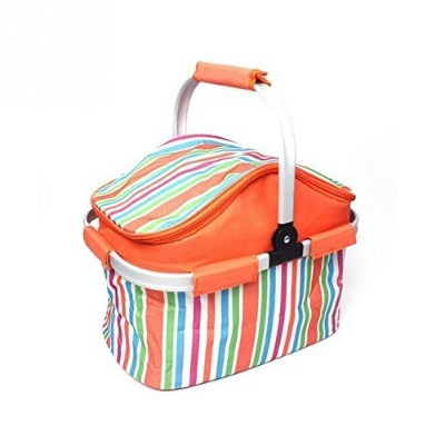 20L Portable Cooler Bag, Shooping Blasket,Insulated Canvas Lunch Bag, Kids Children Lunch Box Bags,...