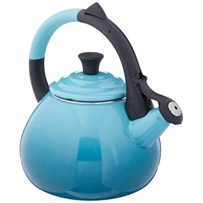 Le Creuset Enameled Steel 1.6 Quart Oolong Tea Kettle, Caribbean ケトル 1500ml