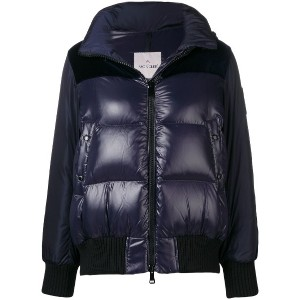 Moncler panelled puffer jacket - ブルー