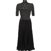 Prada fitted knit pleated dress - グレー