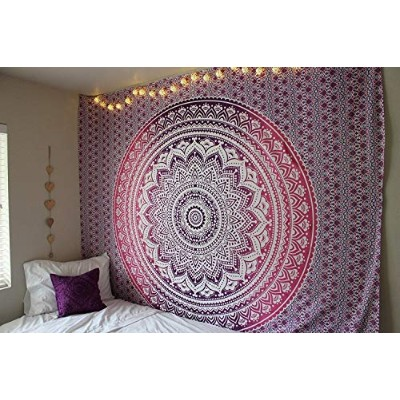 """(Full (215cmsx230cms), Purple) -""""New launched"""" Popular Handicrafts tapestry wall hangings Indian..."""