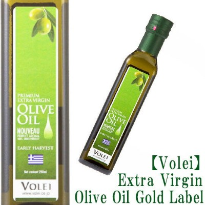 送料無料 ゴールドラベル【6本セット】【Volei】Extra Virgin Olive Oil Early Harvest(Nouveau) Non-Filter 250ml Gold Label...