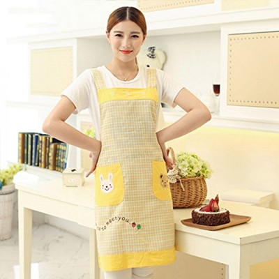 Geranjie Home Furnishingエプロンスカーフマニキュア韓国レストランキッチンエプロン幼稚園Overalls for Woman