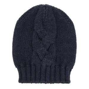 Semicouture cable knit beanie - ブルー
