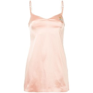 Moschino satin slip dress - ピンク