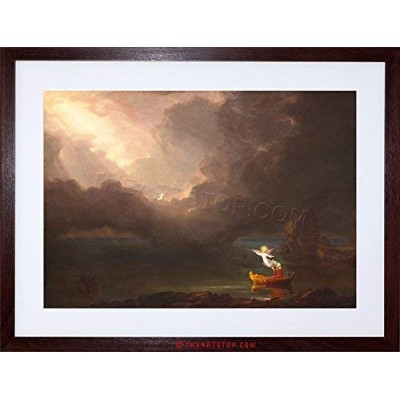 Painting Allegory Cole Voyage Life Old Age Framed Wall Art Print