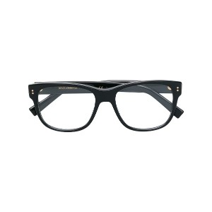 Dolce & Gabbana Eyewear square prescription glasses - ブラック
