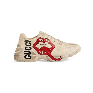 Gucci Rhyton sneaker with mouth print - Unavailable