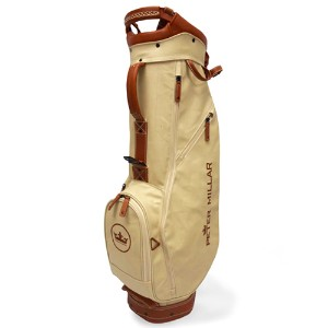 Peter Millar Canvas Leather Crown Seal Golf Bag キャディバッグ 【ゴルフ バッグ>スタンドバッグ】