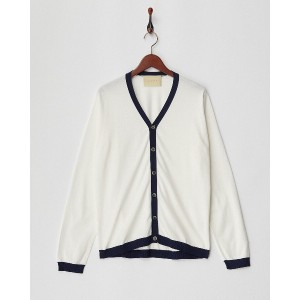 M・MAGLIA KNIT CARDIGAN○M02CD01 White/navy トップス