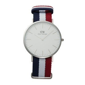 Classic Cambridge0203DW 40mm/Daniel Wellington○BYCWT32B シルバー/トリコロールカラー 時計