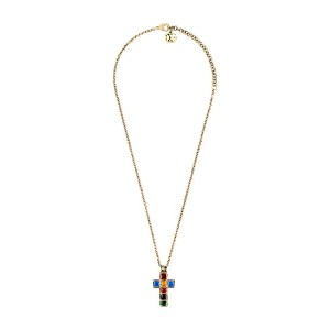 Gucci Necklace with small cross - ゴールド