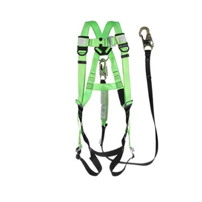 Sellstrom 4456-KIT03S Fall Protection Kit, 5 Point Adjustable Harness with 6' Shock Absorbing...