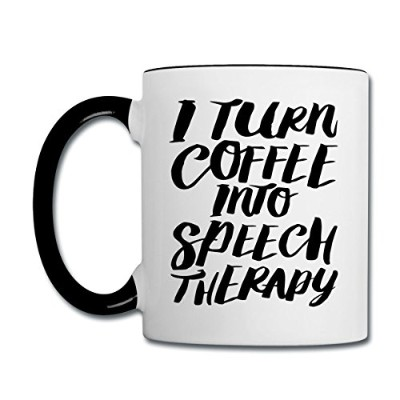 SLP TurnコーヒーにSpeech TherapyコントラストCoffee Mug by Spreadshirt S93439-A102894651-app70-size29