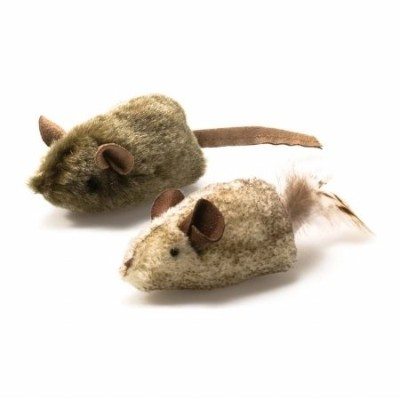 VIR OurPets Twice The Mice Cat Two Squeaking Toys Blast Batting Chasing Mouse