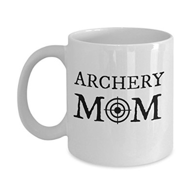 Archery MOM面白いギフトアイデアマグas seen onシャツfor Archer Strong Woman , Lady or Girl Who Shoot theターゲットwith...